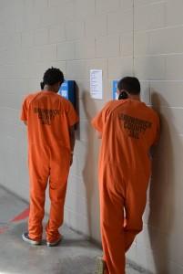 Inmates Using Telephone