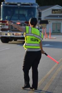 Volunteer Directing Traffic